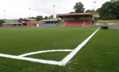 Final phase of the 3G artificial turf pitch at Latham Park.RD299_2014-3