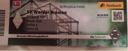 Monchengladbach ticket