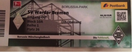 Monchengladbach ticket