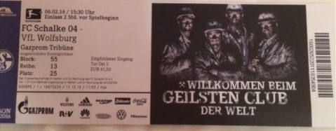 Schalke ticket